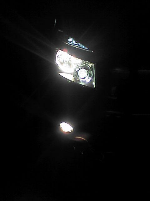ポジションランプをLEDに交換 交換後 全点灯