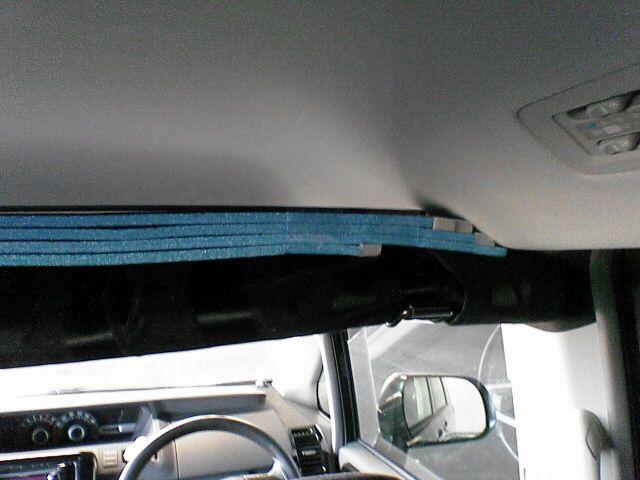 車中泊の定番、センターカーテン取付け 【仕上げ】 上部塞ぎ1
