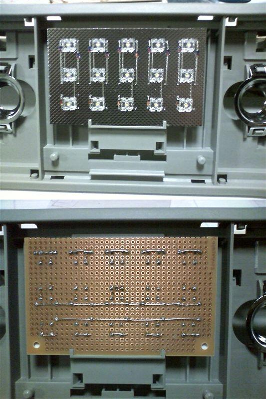 室内LED化。大型ドームランプに応用 【ルームランプLED化(ドームランプ中央)】 部品パターン