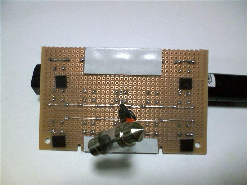 室内LED化。大型ドームランプに応用 【ルームランプLED化(ドームランプ中央)】 両面テープ