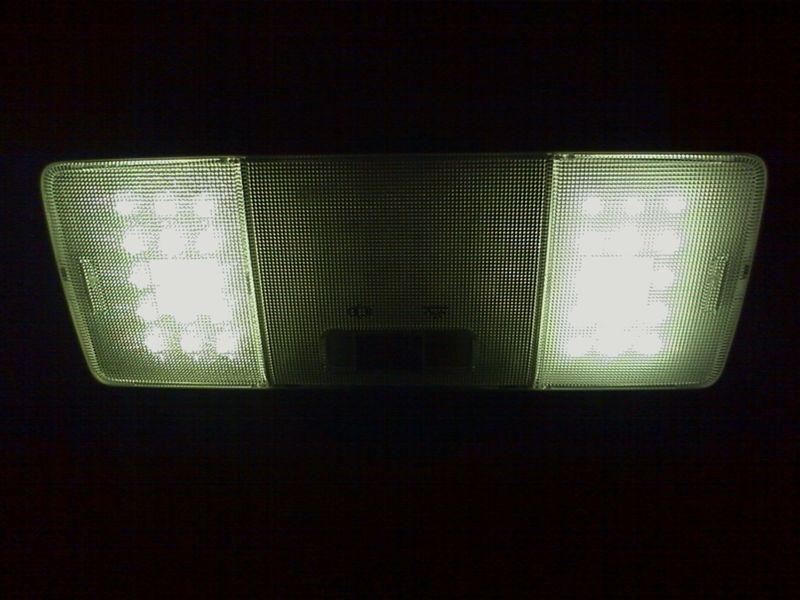 室内LED化。ドームライト完成 【ルームライトLED化(ドームライト左右)】 完成図