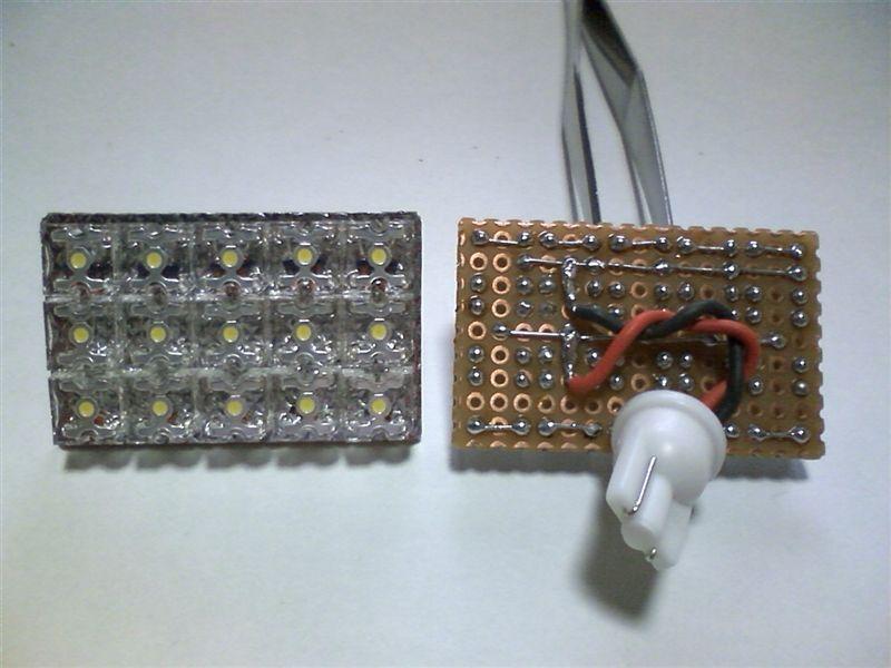 室内LED化。これでルームライトフルLED 【ルームライトLED化(フロントマップライト)】 2個完成