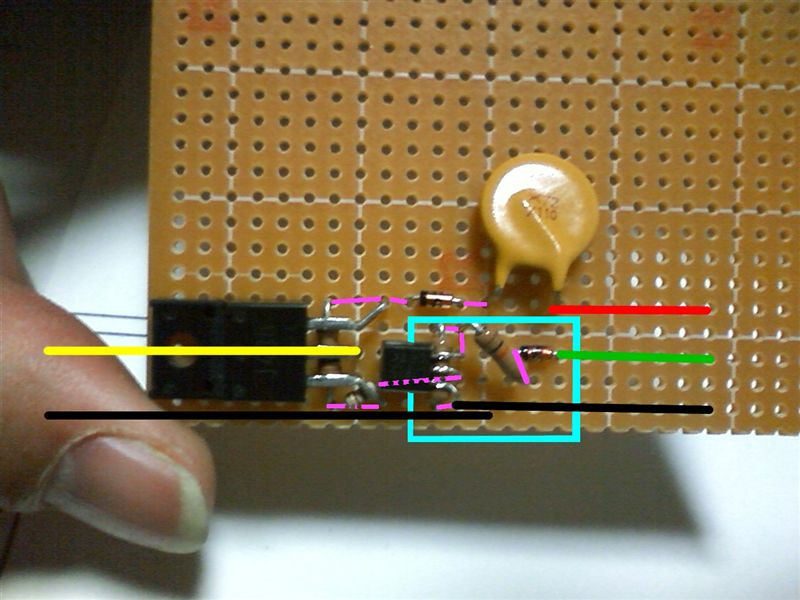LED工作用に部品作成 【FETリレー作成(プラスコントロール)】 回路パターン