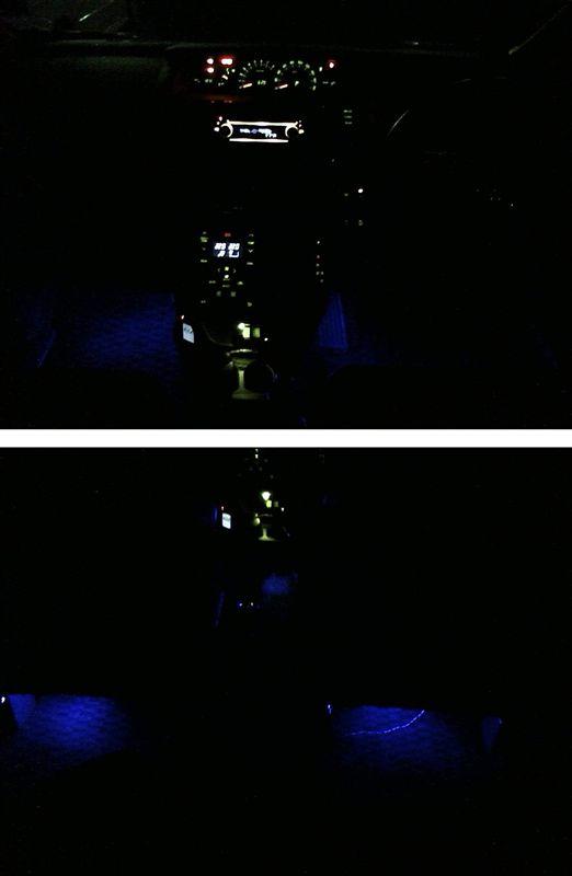 真っ暗な足元を照らしてみる。 【フットランプ作成】 仮配置