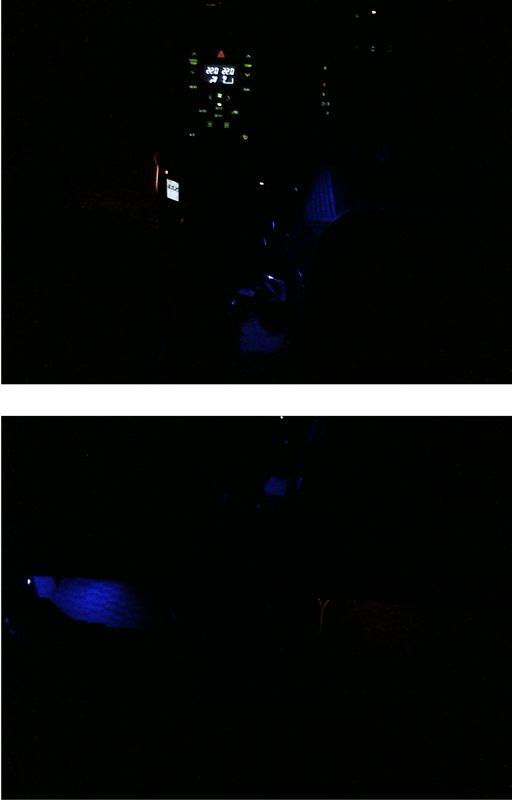 真っ暗な足元を照らしてみる。 【フットランプ作成】 色比較