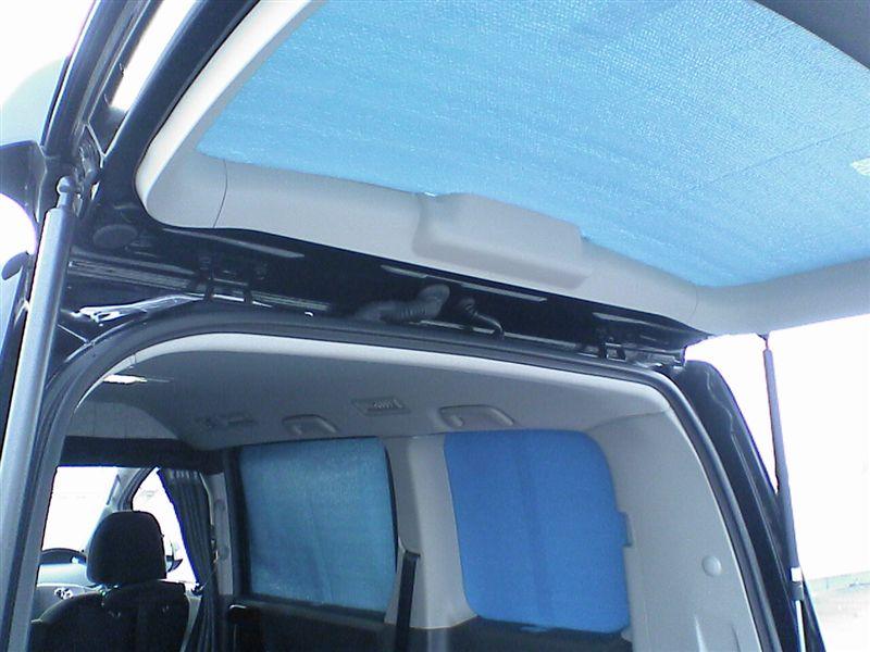 窓断熱パネルで夏の車内を快適に。 【窓断熱パネル-夏バージョン】 プレ完成