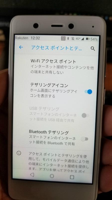 RakutenMini アクセスポイント