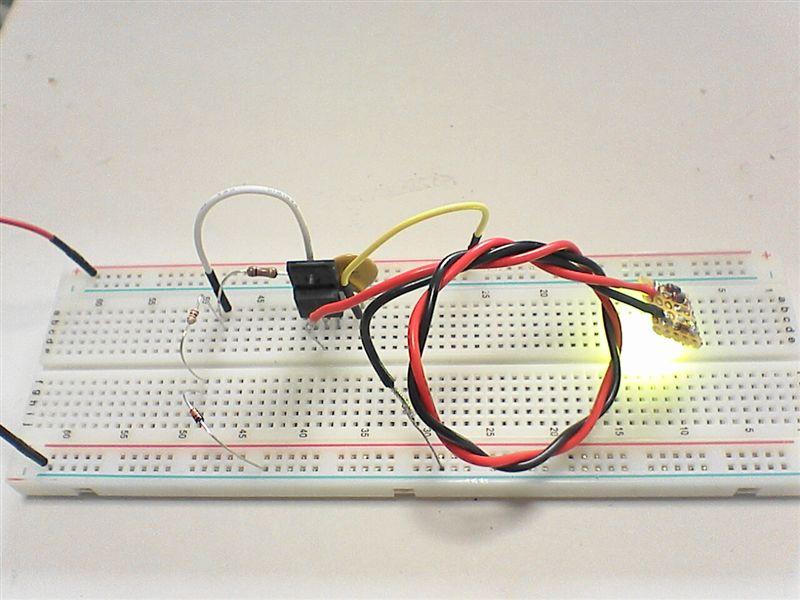 LED工作用に部品作成 【FET作成(マイナスコントロール)】 回路テスト