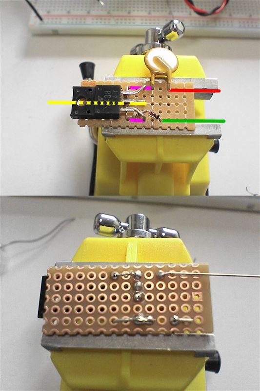 LED工作用に部品作成 【FET作成(マイナスコントロール)】 回路パターン