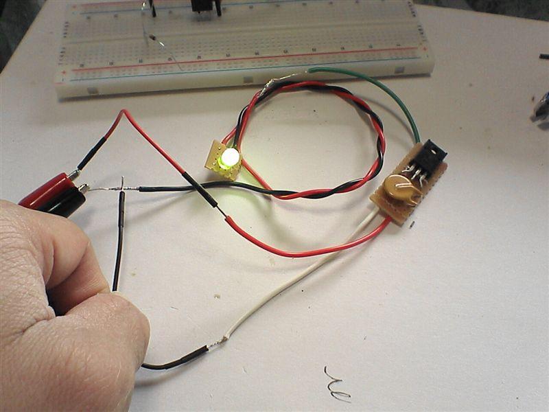 LED工作用に部品作成 【FET作成(マイナスコントロール)】 完成図