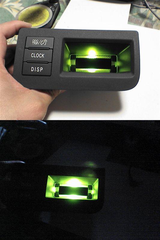 室内緑化計画。 【モバイルポケットにLED】 仮点灯