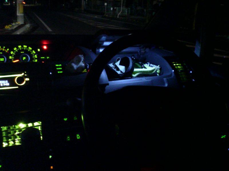 冷蔵庫的照明 【運転席アッパーボックス照明】 完成図