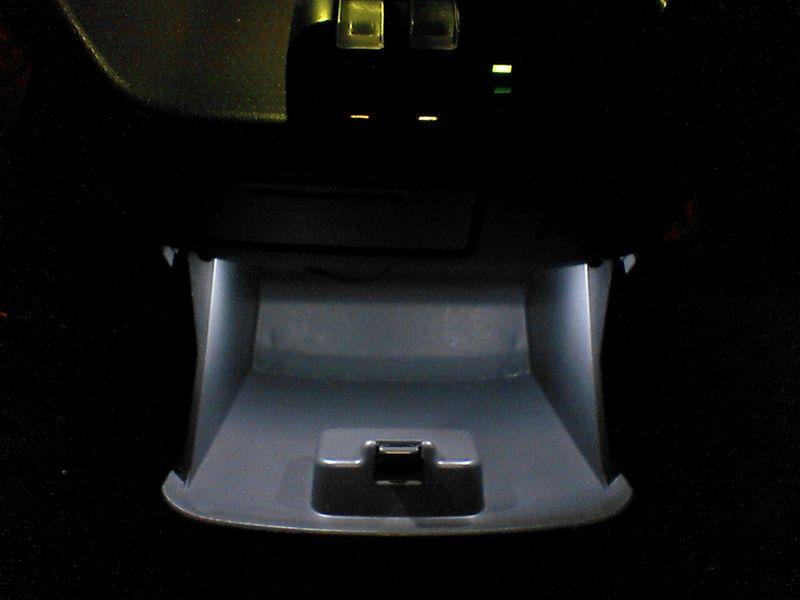 冷蔵庫的照明 【センターロアボックス照明】 完成図
