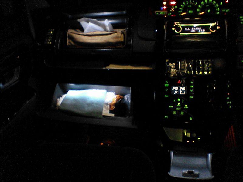 冷蔵庫的照明 【センターロアボックス照明】 全体図