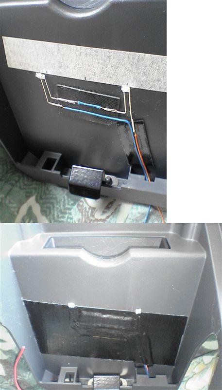 冷蔵庫的照明 【運転席ロアボックス照明】 LEDの取り付け