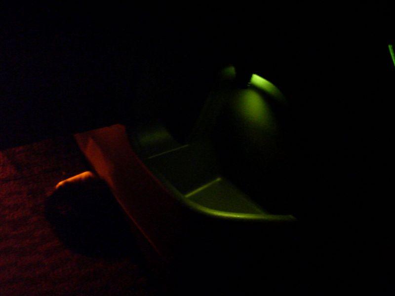 室内緑化計画。 【センターサイドポケットに照明】 完成図