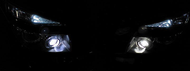 ほとんどカラー見本 【HIDバルブ交換 D4C 6000K】 照射光比較