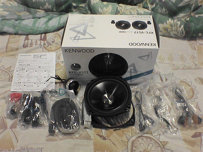 音響増強計画 【ツィーター取付】 KENWOOD KFC-VS17(セパレートカスタムフィット・スピーカー)