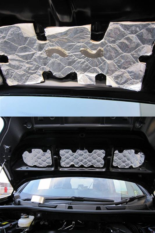 車内を静かに・・ 【エンジンルーム静音シート】 一層目完成