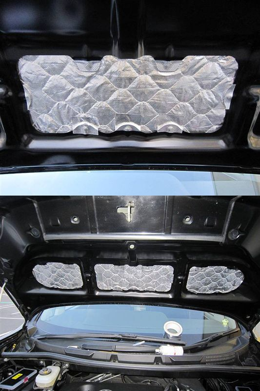 車内を静かに・・ 【エンジンルーム静音シート】 一層目補強