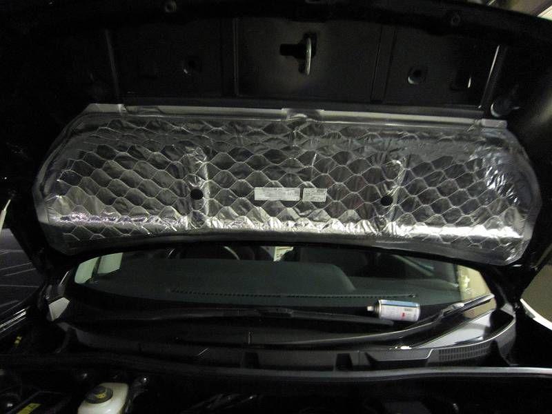 車内を静かに・・ 【エンジンルーム静音シート】 完成図