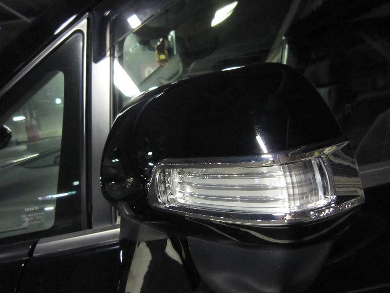 車外青光化強化 【ドアミラーにポジ追加(灯体作成)】 Silk Blaze ドアミラーウィンカークロームトリム タイプS