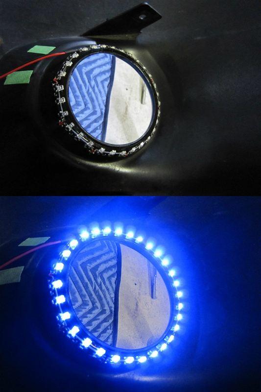 車外青光化強化 【フォグにイルミ。】 バンパー貼付け