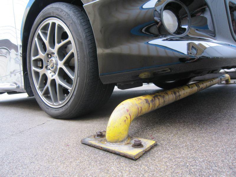 しり上がり解消 【車高調取り付け】 洗車場チェック