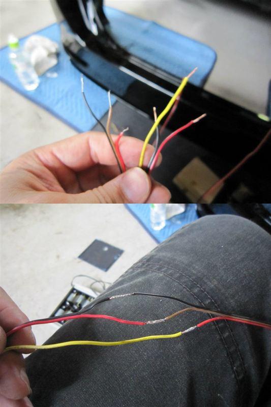 リフもエアロ化 【LEDリフレクター取り付け】 配線取り付け