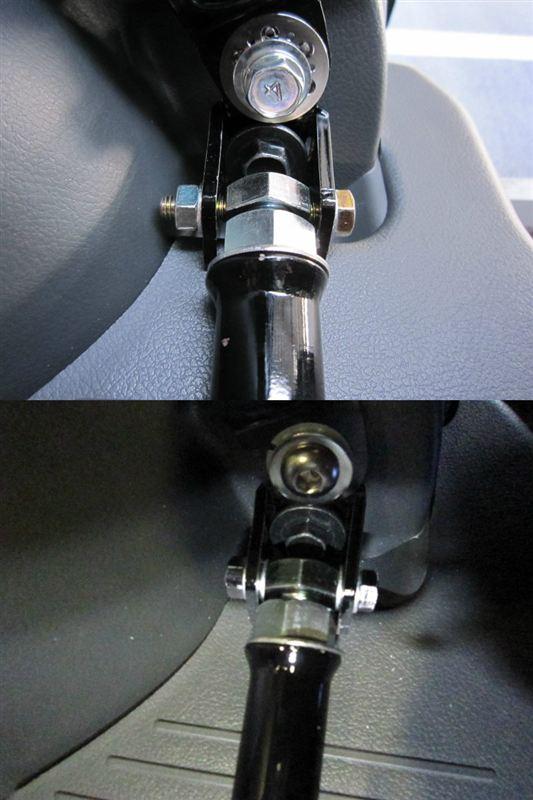 じっくり車体補強 【3rdシートフロアバー:実装】 ボルトのクリアランス