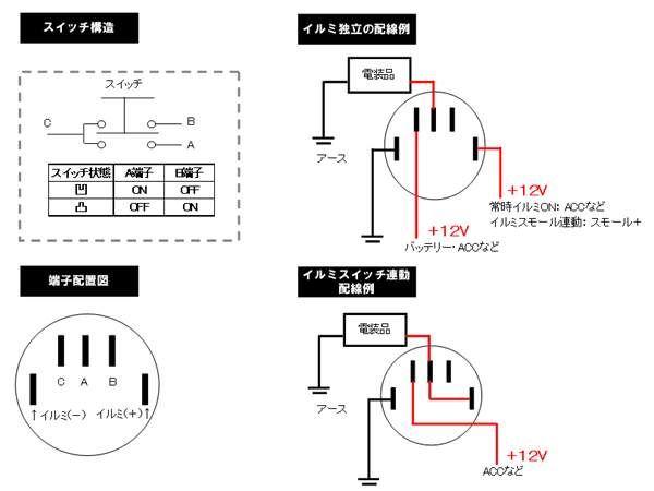 イルミスイッチ変更 【埋込型プッシュスイッチ(取付編)】 回路図