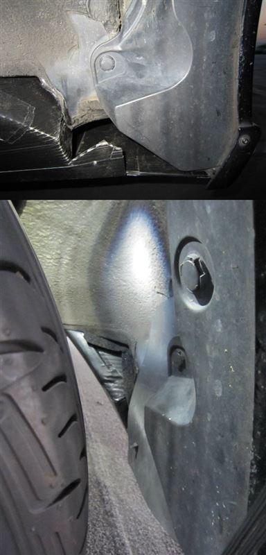 床下整流は効く。 【自作リアアンダーパネル】 タイヤハウスふさぐ