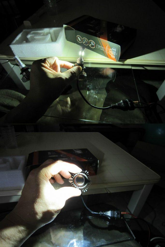 LEDバルブ交換ふたたび。 【ハイビームをLED化その2】 点灯テスト